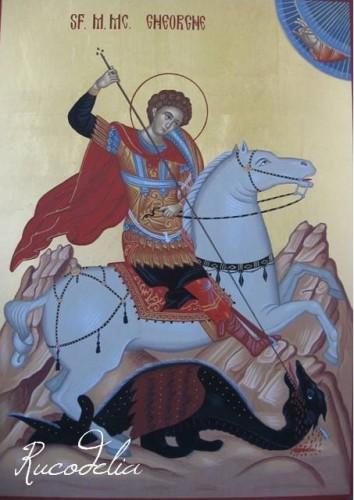 Rucodelia Sfantul Gheorghe pictat manual