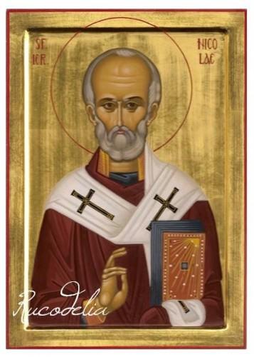 Rucodelia Sfantul Nicolae pictat manual