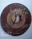 Handmade rucodelie ceas flori presate1