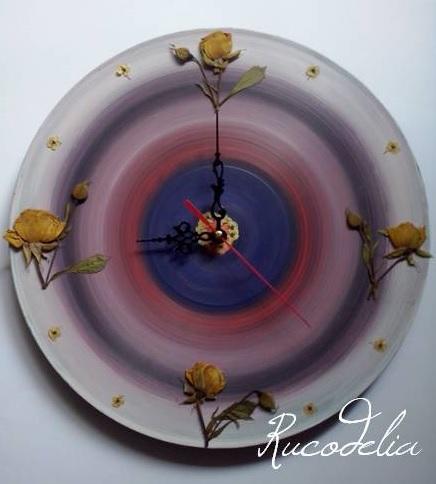 handmade rucodelie ceas flori presate 2