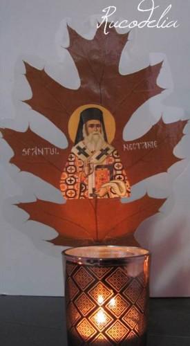 Candela Sfantul Nectarie rucodelia