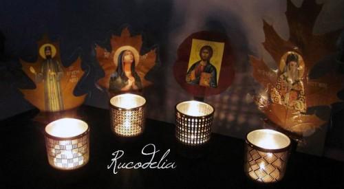 Candele rucodelia handmade Flori presate
