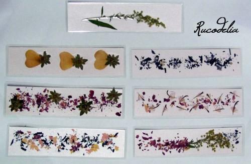Semne de carte flori presate cu citate Parintele Arsenie Boca M1 fata