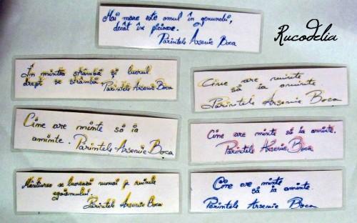 Semne de carte flori presate cu citate Parintele Arsenie Boca M1 verso